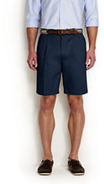 "Classic Men's Big & Tall No Iron 9"" Pleat Front Comfort Waist Chino Shorts-Steeple Gray"