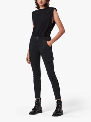 AllSaints Duran Cargo Jeans, Black