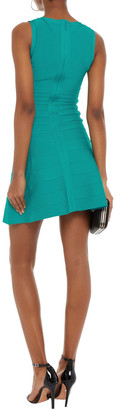 Herve Leger Fluted Bandage Mini Dress