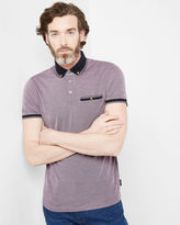 FABALAS Oxford collar polo shirt