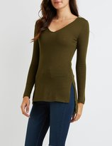Charlotte Russe V-Neck Tunic Top