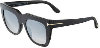 Tom Ford Oversized Square Plastic Sunglasses