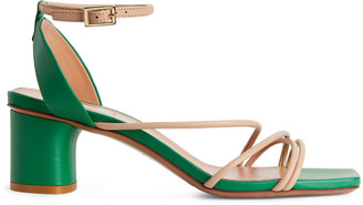 Arket Ankle-Wrap Leather Sandals