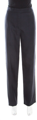 Isabel Marant Navy Blue Wool Tailored Trousers M