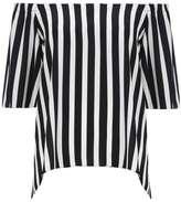 Wallis Monochrome Stripe Bardot Top