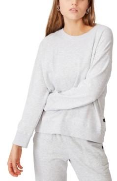Cotton On Women's Long Sleeve Fleece Crew Sweatshirt