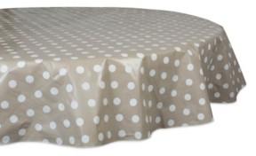 "Design Imports Polka Dot Vinyl Tablecloth 70"" Round"