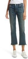 Nili Lotan Toddler Girl's Raw Edge Crop Boyfriend Jeans