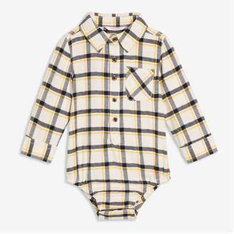 Joe Fresh Baby Boys' Plaid Bodysuit, Indigo (Size 18-24)
