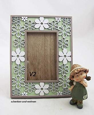 Camilla And Marc Goldbach Wooden Photo Frame, Assorted, Wood, Green/White, 19.5 x 1.7 x 42 cm