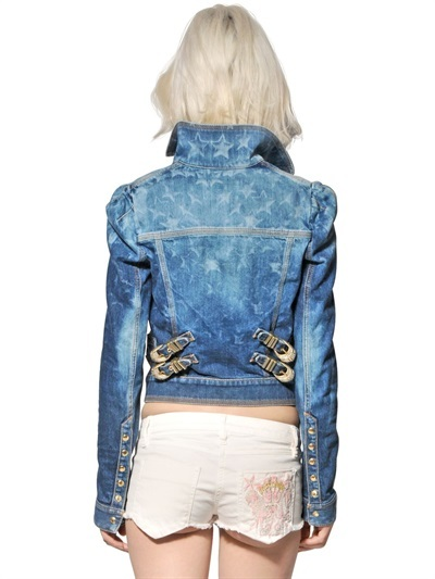 Just Cavalli Stars Denim Casual Jacket