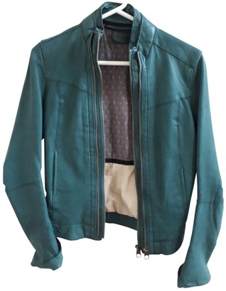 Zadig & Voltaire Turquoise Leather Jackets
