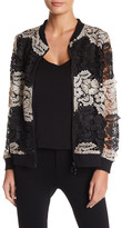 Berek Two-Tone Lace Knit Bomber Jacket