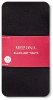 Merona Women's Plus-Size Tights Blackout 120 Denier Opaque Black 2X