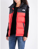 The North Face Ladies Red Exposed Zip 1992 Nuptse Shell Puffer Gilet