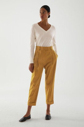 Cos Lyocell-Cotton Mix High Waisted Pleated Pants