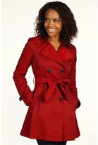DKNY Double Breasted Short Trench (Rebel Red) - Apparel
