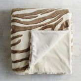 Pier 1 Imports Faux Fur Taupe Zebra Throw
