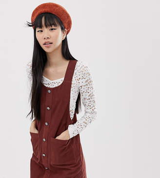 New Look pinny in cord-Brown