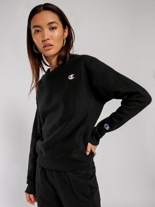 Champion Reverse Weave Crew Sweatshirt in Black