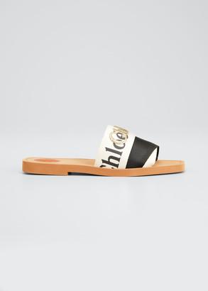 Chloé Woody Bicolor Flat Slide Sandals