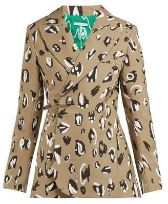 Charles Jeffrey Loverboy Leopard-print Safety-pin Wool Blazer - Womens - Leopard