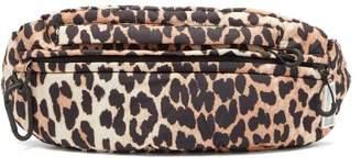 Ganni Leopard-print Nylon Belt Bag - Womens - Leopard