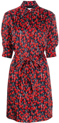 Victoria Victoria Beckham Cherry-Print Shirt Dress
