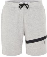 Topman Gray Tech Jersey Shorts