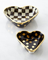 Mackenzie Childs MacKenzie-Childs Small Courtly Check Heart Bowl