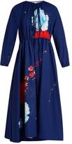 Vetements Floral-print tie-neck crepe dress