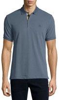 Burberry Short-Sleeve Oxford Polo Shirt, Blue