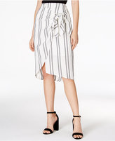 Astr Karina Striped Wrap Skirt