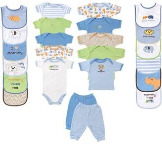 Luvable Friends Newborn Boy Baby Shower Deluxe Gift Set, 24pc
