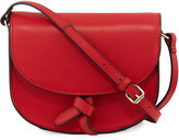 KC Jagger Adriana Leather Knotted Saddle Bag