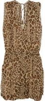 Naima leopard-print silk-georgette dress