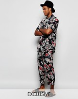 Reclaimed Vintage Floral Beach Pants Co-ord