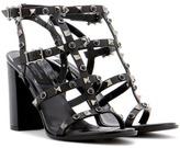 Valentino Garavani Rockstud Rolling Noir Leather Sandals
