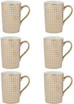 10 Strawberry Street Houndstooth Madi Porcelain Mugs (Set of 6)
