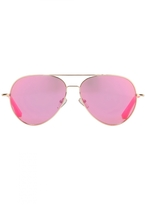 Matthew Williamson Pink Aviator Sunglasses