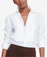 Lauren Ralph Lauren Petite Poplin Bib Shirt