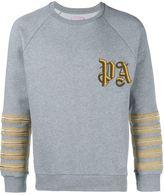 Palm Angels Embroidered Cotton Jersey Sweatshirt
