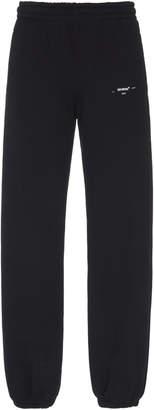 Off-White Off White C/O Virgil Abloh Logo Cotton Sweatpants