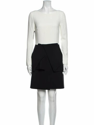 Roland Mouret Bateau Neckline Mini Dress w/ Tags Black