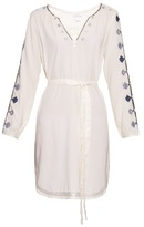 Velvet by Graham & Spencer Belton Tibetan-embroidered dress