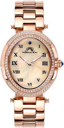 Porsamo Bleu Women's South Sea Oval Crystal Watch