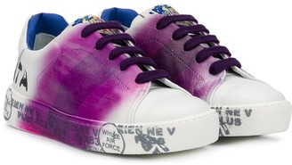 Premiata Kids Charlie contrast-stripe sneakers