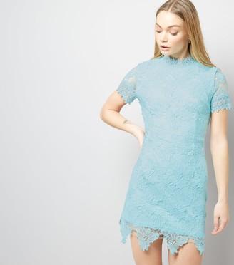 New Look AX Paris Light Lace Funnel Neck Dress