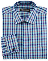 Stacy Adams Long Sleeve Woven Plaid Dress Shirt