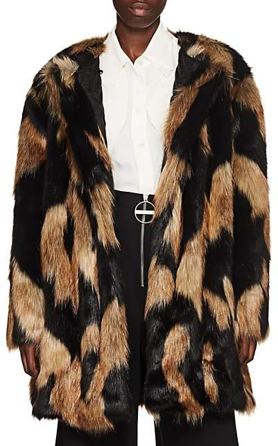 Givenchy Women's Faux-Fur Coat - Brown